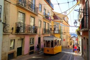 Tramway dans Lisbonne